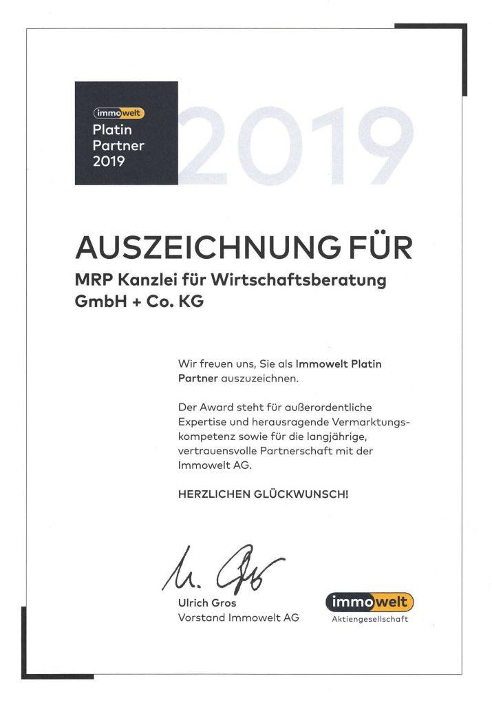 mrp Immobilien Stuttgart immowelt platin partner